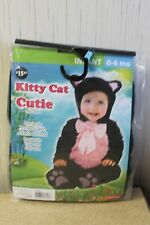 NEW KITTY CAT GIRLS BOYS KIDS SIZE 6-12 MONTHS HALLOWEEN COSTUME OUTFIT BODYSUIT