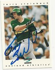 Autographed Signed 1997 Score 146 Terry Steinbach Oakland Athletics Tough Sig