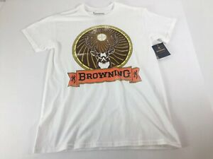 Browning Mens T-Shirt Buck Small White Tee Shirt NEW