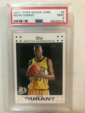 2007 Topps Rookie Card Kevin Durant #2 PSA 9 Rookie Card RC