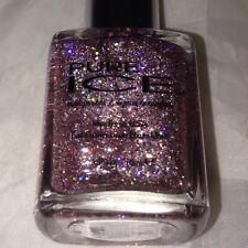 Pure Ice Glitter Nail Polish #991 * SPIT FIRE * Mauve Pink w/Rainbow Holographic