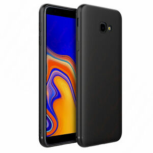 Cover case custodia per samsung J4 PLUS in silicone tpu nera ultra slim morbida