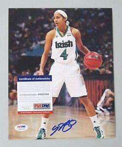 Skylar Diggins Signed 8x10 WNBA Photo AUTO Autograph PSA/DNA ITP COA  Dallas
