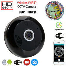 360 Degree Wifi Webcam IP Camera 960P HD Panoramic Fisheye Two-way Audio IR-CUT