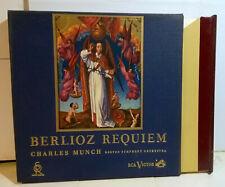 CHARLES MUNCH Berlioz Requiem '60 RCA Red Seal 2LP MONO +RARE BOOK in binder box