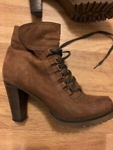 Paul Barritt Stiefeletten Gr. D 37 Beige Damen Schuhe Boots Leder Stiefel - Top