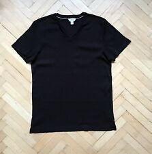 Men's CALVIN KLEIN Noir Extrême Coupe Slim T-Shirt col V taille L coton