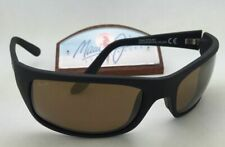 Polarized MAUI JIM Sunglasses PEAHI MJ 202-2M Matte Black Frames w/Bronze Lenses
