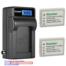 Kastar Battery LCD Wall Charger for Olympus Li80B OLYMPUS T-100 T-110 X-36 X-960