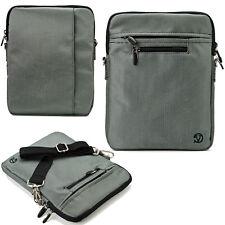 "Gray 10"" Tablet Shoulder Bag Case For Samsung Galaxy Tab A / Tab E / Tab S2 9.7"""