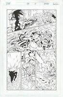 DV8 #23 page 10 Original Comic Art by Al Rio, Wildstorm Comics, 1998, Threshold