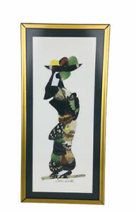 Framed Africa Butterfly Mosaic Art Hand Crafted by African Artists Woman