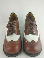 Lady Dexter Saddle Shoes Size Eight Medium Brown and White