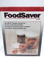 Tilia Food Saver Savermate Designet 3 Cannister Set with Lids NEW