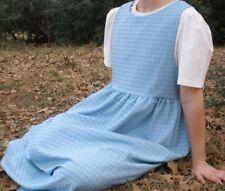 Ladies jumper dress modest full light blue polyester long 2X 26 28 Tall Plus