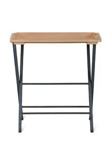 Oak Beech Black Wooden Folding Indoor Butlers Removable Desk Tray Table