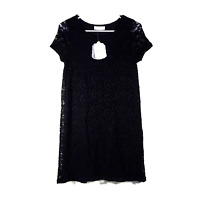 NWT Altar'd State Dress Black Lace Short Sleeve Lined Romantic Soft Nice Gift XS