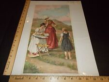 Rare Antique Original VTG 1895 NY Recorder Unwilling Model Weisz Litho Art Print