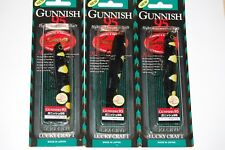 "3 lures lucky craft gunnish 95 bass topwater lure 3 1/2"" 3/8oz black bumblebee"