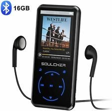 Soulcker MP3 Player 16GB Bluetooth FM Radio Voice Recorder