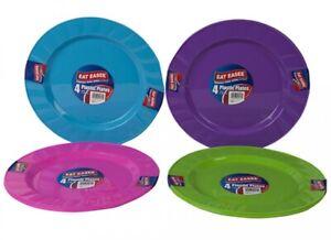 Plastic Plates Multi Colour Party Picnic BBQ Dinner Outdoor Large 23cm