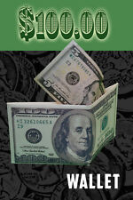 Funny ONE HUNDRED DOLLAR BILL COIN MONEY WALLET Purse $100. Joke Gag Comedy Prop