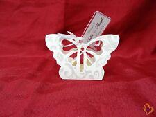 Boite à dragée en forme de papillon blanc argenté x25
