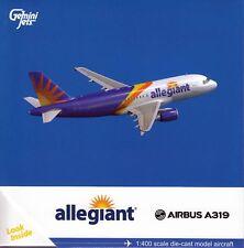 Gemini Jets GJAAY1658 Allegiant Airbus A319 1:400  Scale (pre-painted/pre-bui...