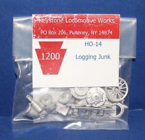 Keystone Loco Works HO-14 HO Logging Junk cast Metal Kit NIB