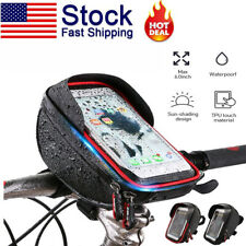 "Bike Bicycle Motorcycle Handlebar Case Bag Mount Holder Waterproof For 6"" Phone"