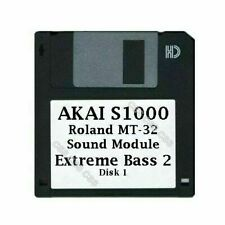 Akai S1000 Floppy Disk Roland MT-32 Sound Module Extreme Bass 2 Disk 1