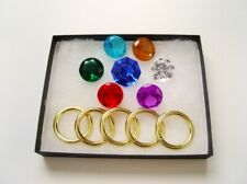 Sonic the Hedgehog Series - 7 Chaos Emeralds and Power Rings - IN A GIFT BOX