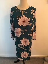 Joules Vita Floral Shift Dress Size 10 Turqouse Lines BNWT