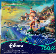 Disney -The Little Mermaid - Thomas Kinkade 750 Piece Jigsaw Puzzle Caeco USA