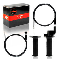 Throttle Twist Grip Set with 7//8 Handlebar Throttle Cable 36-inch for Kawasaki KX 60 65 80 85 100 125 250 KLX110