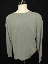 Kirkland Grey Crew Neck Pure Cashmere Mens Pullover Sweater Jumper 2XL XXL