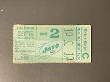 Joe Namath 2nd NFL Home Game Ticket Stub October 16, 1965