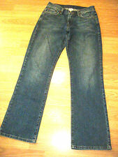 LUCKY BRAND DUNGAREES RIDER FIT RELAXED STRETCH DK DENIM BOOTCUT JEANS SIZE 6/28