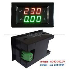 Digital AC Dual Display 300V 10A Volt Amp LED Panel Meter + Current Transformer