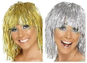 Adult Unisex Tinsel Wig 1970s Disco Festival Icon Fancy Dress Party Wig