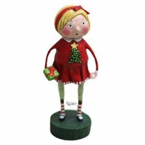 Gift Exchange Girl Christmas Figurine by Lori Mitchell
