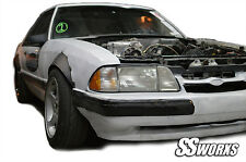 SSworxs Ford Mustang 1979 - 1993 Fender Flares metal Foxbody Hatchback Coupe