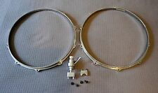 "Die Cast Snare Drum Hoops 14"" 10 hole Batter and Snare Side including Strainer"
