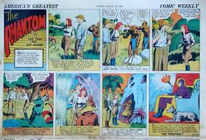 The Phantom by Lee Falk & Ray Moore - half-page color Sunday comic Aug. 18, 1940