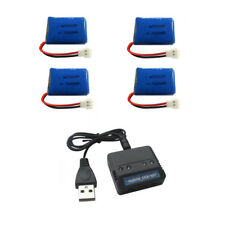 4pcs 3.7V 200mAh Battery + 4 in 1 Charger Box for SYMA X4 X11 X13 RC Quadcopter