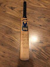 Signed Mike Gatting Plus Four Other Signatures - miniture Cricket Bat