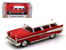 1957 CHEVROLET NOMAD RED 1/43 DIECAST MODEL CAR BY ROAD SIGNATURE 94203