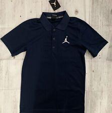 Nike Jordan Jumpman DRI-FIT Golf Polo Shirt Navy Blue Men SMALL 865856 419