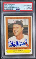 Stan Musial auto card Topps #27 1985 St. Louis Cardinals PSA Encapsulated