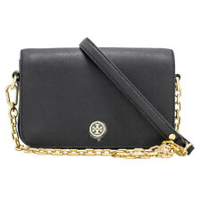 NWT Tory Burch Robinson Chain Leather Mini Bag Crossbody Color: BLACK MSRP $395